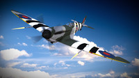 3d model supermarine spitfire aircraft