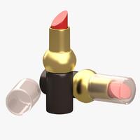 lipstick 3d obj