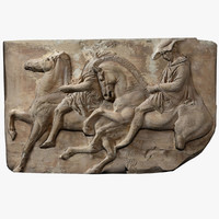 frieze marble parthenon 3d model