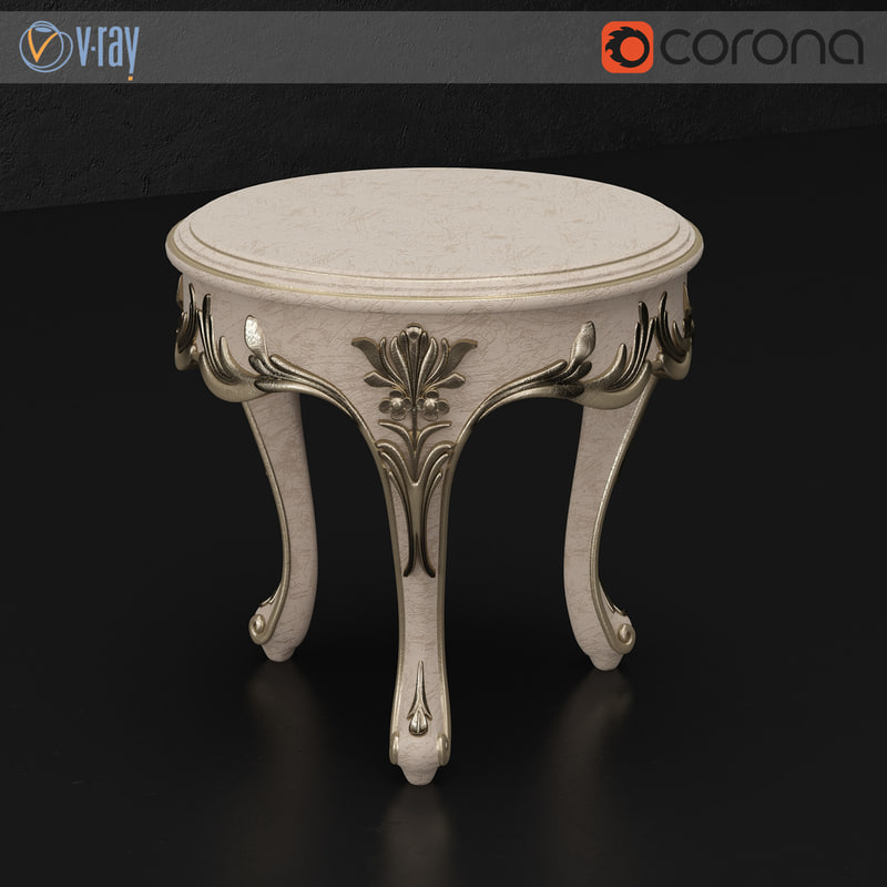 3d model silvano griffoni tea table