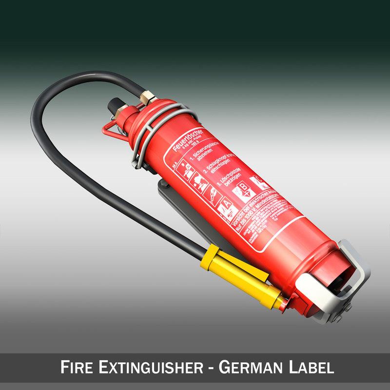 extinguisher mounting 3d model