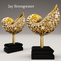 3d model jay strongwater nautilus shell