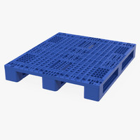 plastic pallet blue 3d model
