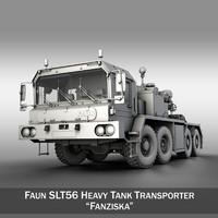 3d model faun stl-56 heavy tank