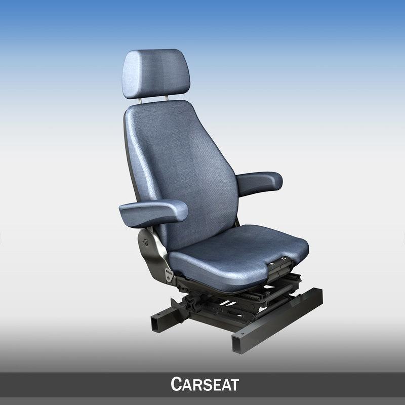 3d model car seat attachment