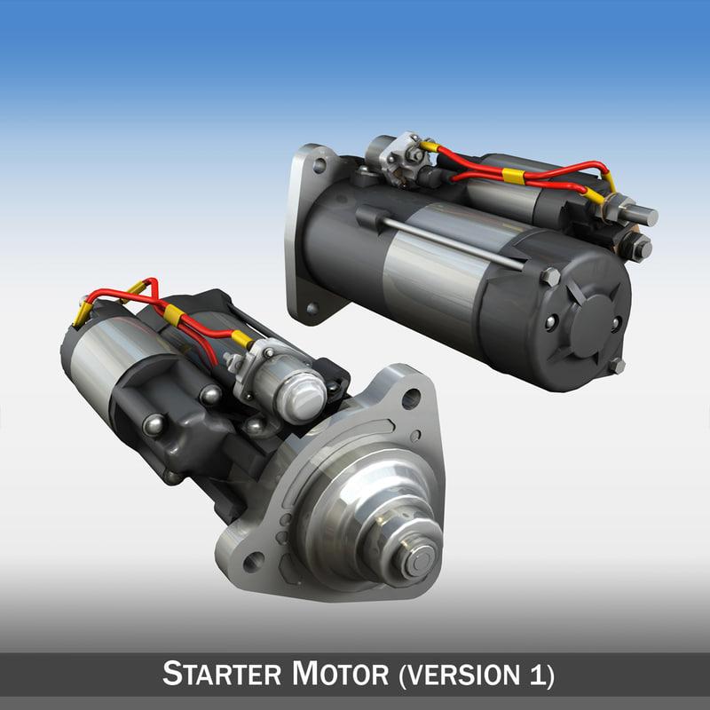 starter motor 3d model