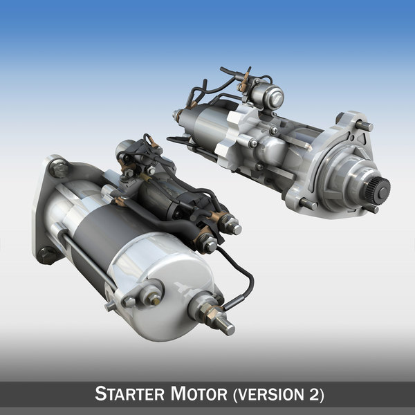 starter motor 3d 3ds