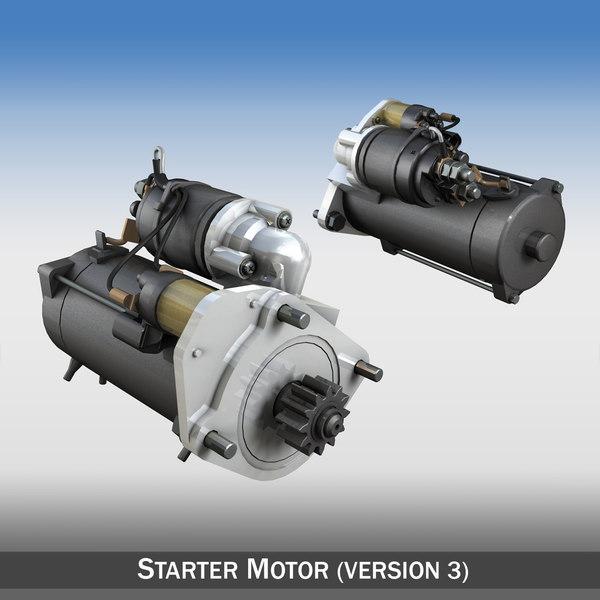 starter motor engines 3d c4d