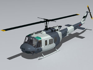 3d model bell uh-1h helicopter cockpit