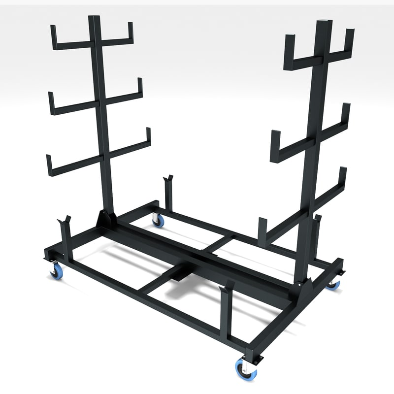 pipe rack mobile 3d 3ds