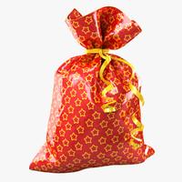 3d model of gift bag