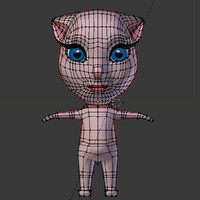 3d cat cartoon