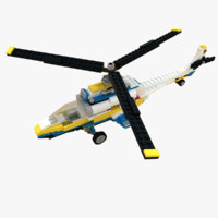 lego 31011 helico 3d model