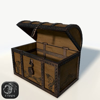 3d model realistic pirate chest