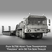Faun STL-56 - Heavy Duty Tractor with 52 ton Semi-Trailer