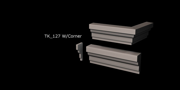 window door trim package 3d model