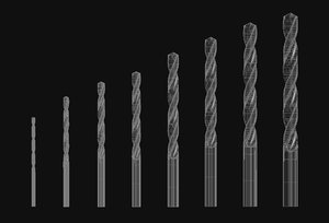 drill bit hss series 3d model