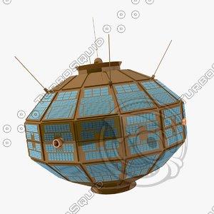 3d alouette 1 satelitte model