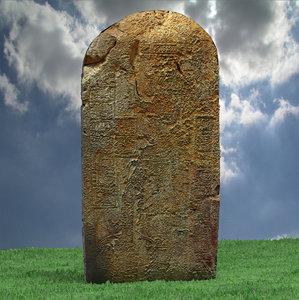 3d model aztec stone 3