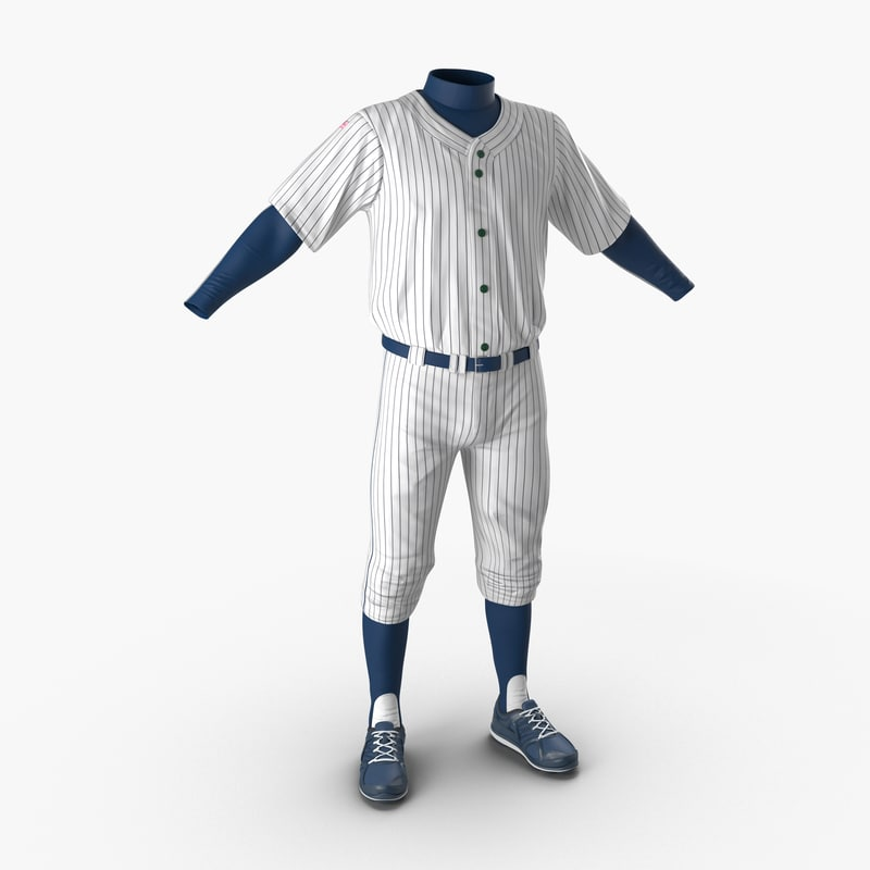 baseball player outfit generic 3d c4d