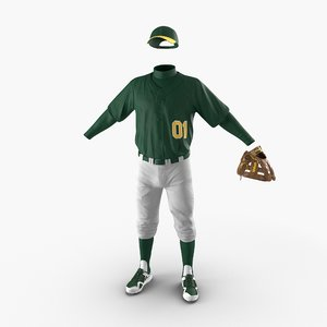baseball player outfit generic 3d max