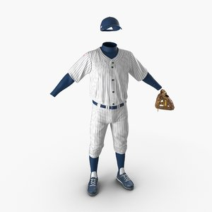 3d model baseball player outfit generic