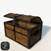 3d realistic pirate chest