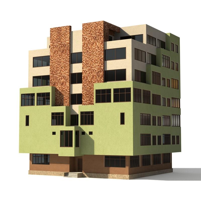 architecture environment 3d model