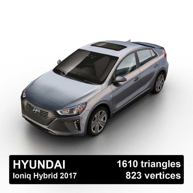 2017 hyundai ioniq hybrid 3d 3ds
