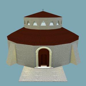 church 3d obj