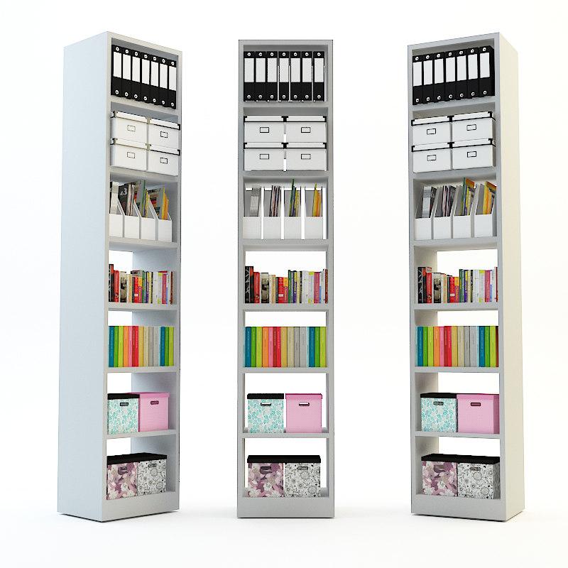 billy bookcase 3d fbx