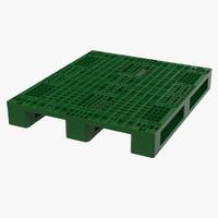 3d plastic pallet green