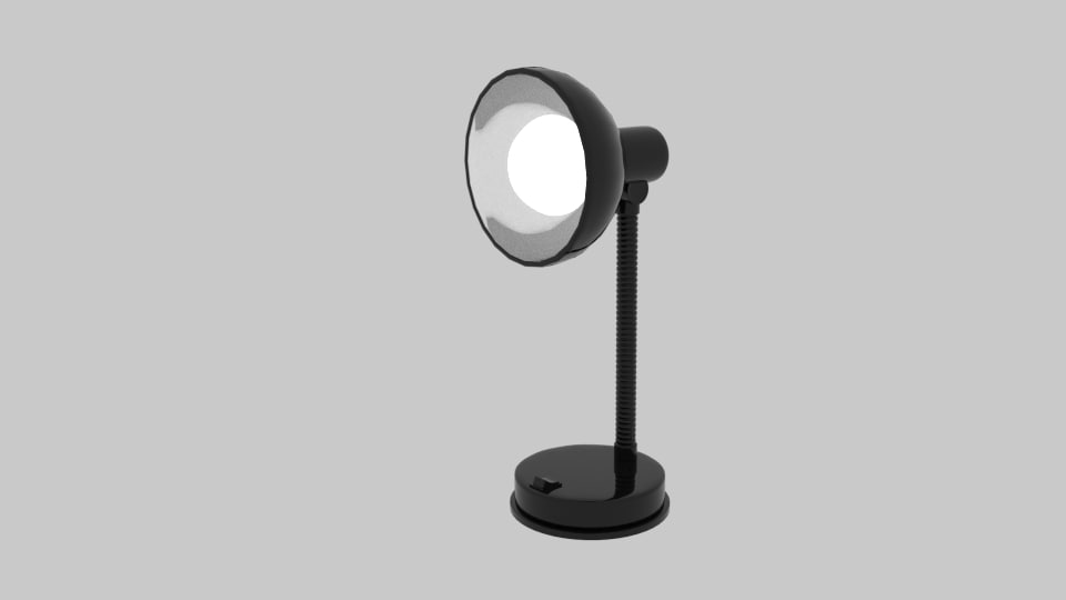 lloytron flexi desk lamp obj