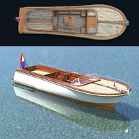 Sloep - little pleasure yacht / launch boat / luxury motorboat for sea, lake or river