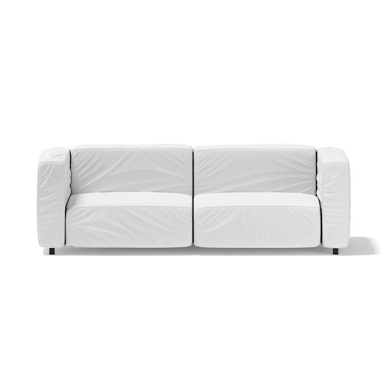 3d model modern white sofa