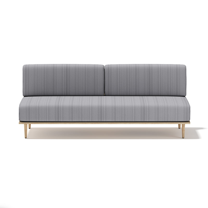 c4d grey sofa wooden frame