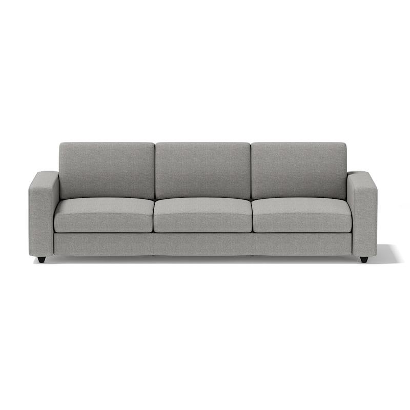 grey seat sofa 3d model