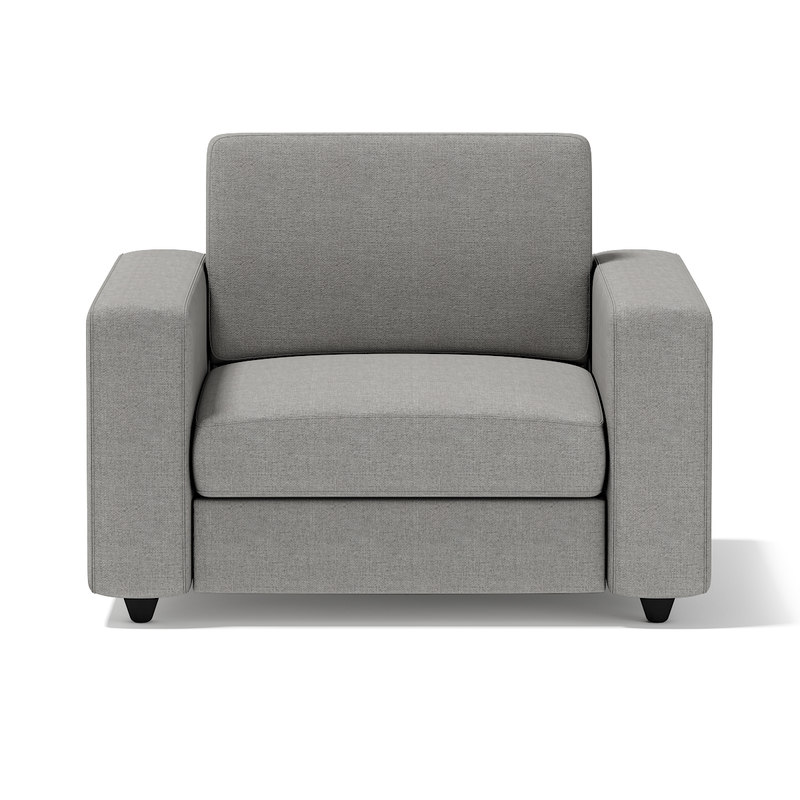 grey armchair 3d model
