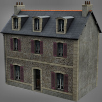 3d traditionnal house brittany model