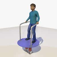 european boy playing revolving 3d model