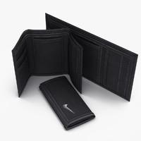 3d model realistic nike wallet