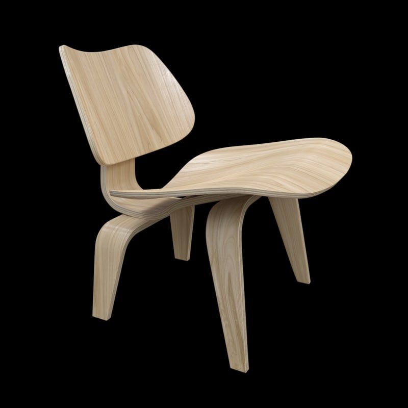 eames plywood chair 3d model