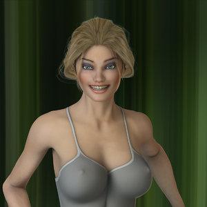3d model linda female v3 9meu
