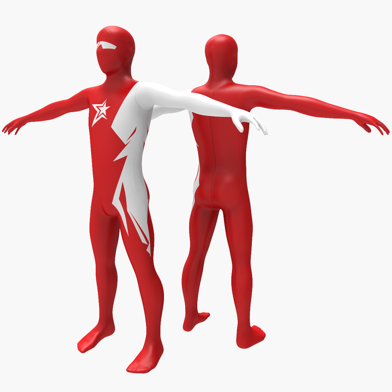 3d model morphsuit super hero