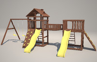 3d model playground wood