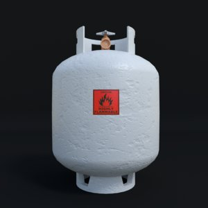 photo-realistic gas container - obj