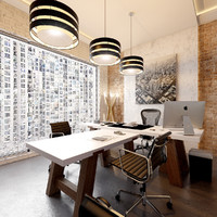 Office Loft Interior Design Scene