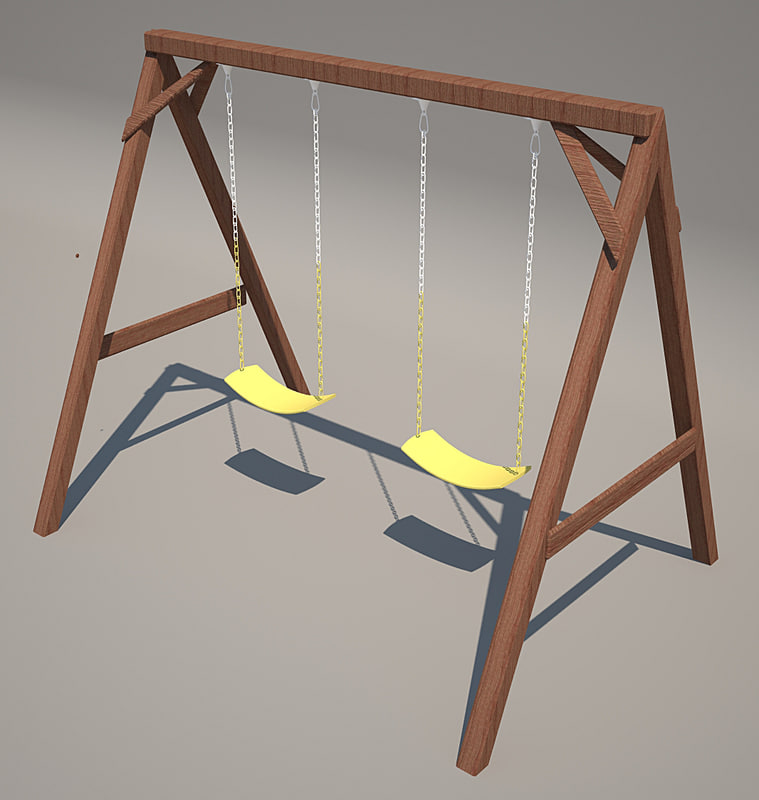 3d playground wood model