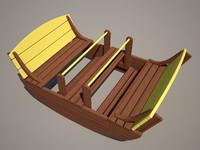3d swing wood model