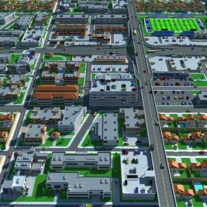 3d city interchange